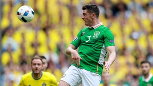 Ciaran Clark in action during Ireland's opening Euro 2016 clash in Paris