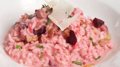 Pancetta, Thyme & Roasted Beetroot Risotto