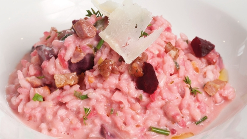 Pancetta, Thyme & Roasted Beetroot Risotto: Fulvio