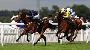The hooded Ajman Princess belied her starting price of 33-1 to chase home Irish Oaks favourite Even Song in the Ribblesdale Stakes at Royal Ascot
