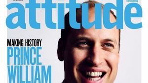 Prince William becomes the first member of the British royal family to appear on the cover of a gay magazine