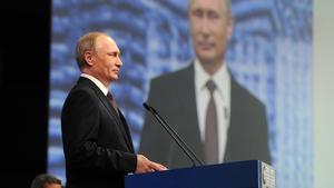 Vladimir Putin was speaking at the St Petersburg International Economic Forum