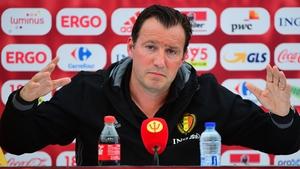Wilmots was in defiant mood ahead of Belgium's clash with Ireland