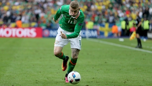 James McClean in action against Sweden in Ireland's opening Euro 2016 game