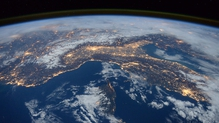From space the Alps, Italy, and Mediterranean can be seen, taken from the International Space Station (Pic: NASA)