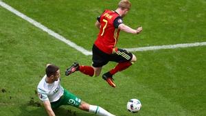 Kevin de Bruyne caused Ireland plenty of problems
