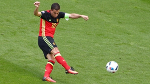 Eden Hazard blazed a great early chance over the bar for Belgium