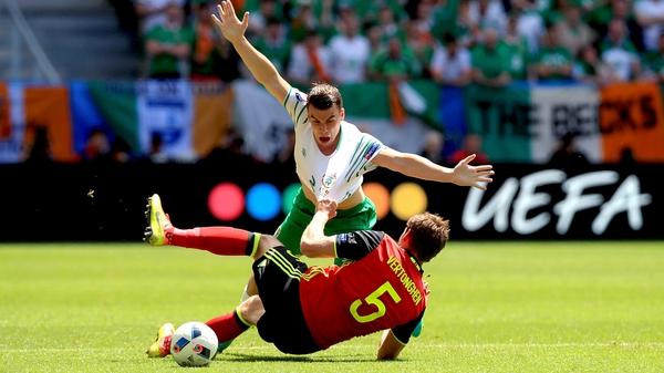 This, believe it or not, is Seamus Coleman fouling Jan Vertonghen
