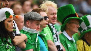 The joyous mood dissipated among Ireland supporters