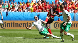 Romelu Lukaku bagged two goals in a polished Belgian performance