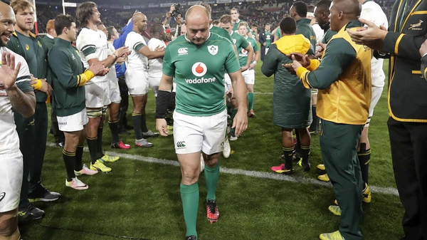 Rory Best leads his team off the field