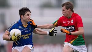 Brendan Murphy and Niall Gaffney battle it out