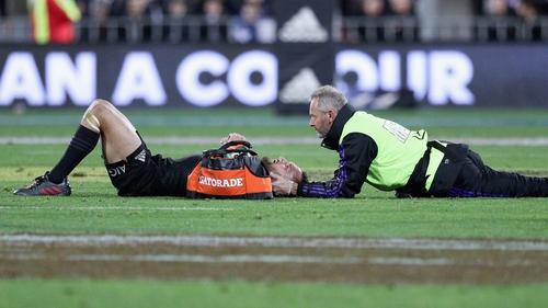 Aaron Cruden receives attention in Wellington