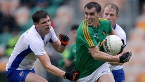 Paddy Maguire is tackled by Patrick Hurney
