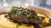Donal's Treacle Beef Short Ribswith Cheesy Polenta
