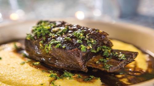 Treacle Beef Ribs, Cheesy Polenta: Donal Skehan