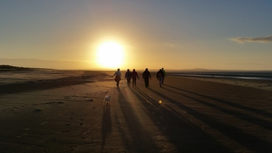 Sunset stroll on Beale Beach in Co Kerry (Pic: Monica Dillane)