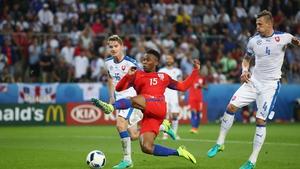 England created little against the Slovaks