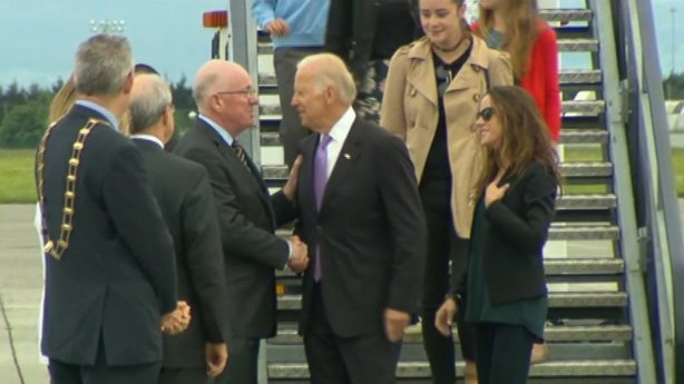 Charlie Flanagan welcomes Joe Biden