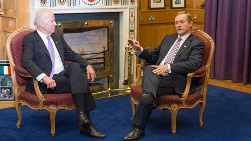 Joe Biden and Enda Kenny had a bilateral meetingtonight