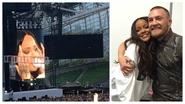 Rihanna gets emotional onstage during Dublin gig
