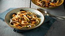 Lunch idea: delicious pasta with mussels