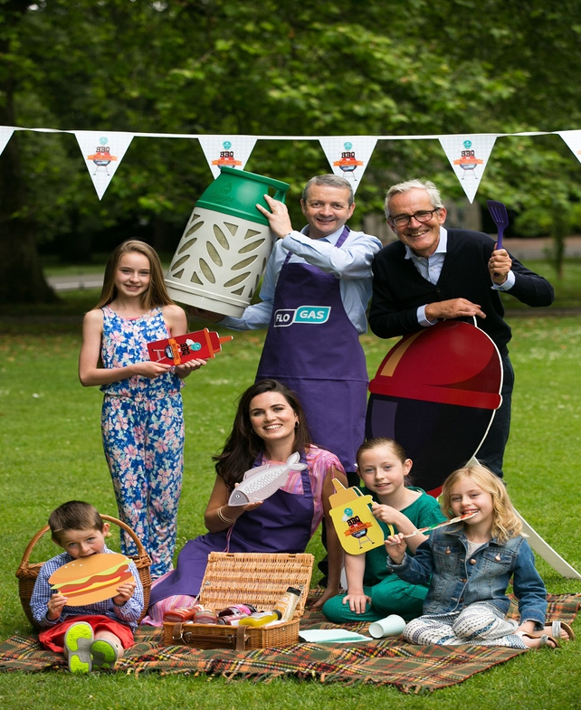 Eoin O'Flynn, Marketing Manager at Flogas, Chef Rory O'Connell, Grace Cox of Ballymaloe Relish and Marie Keating's Grandchildren