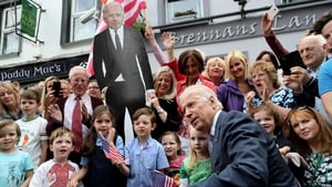 The Vice-President (and his cutout) pose for photos in Ballina