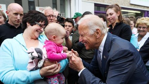 Joe Biden meets the people in Ballina, Co Mayo in June 2016