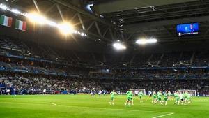Ireland warm up