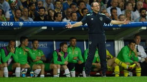 Martin O'Neill marshalling his troops from the touchline