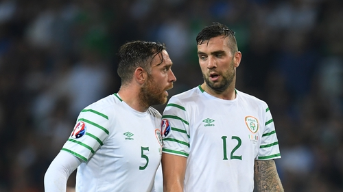 Richard Keogh and Shane Duffy will now be looking to start against the French
