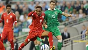 Robbie Brady in action against Oman in 2014