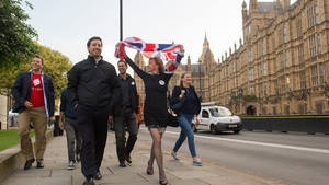 Leave supporters celebrate in London