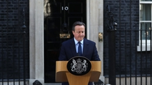 David Cameron addresses the media outside Downing St