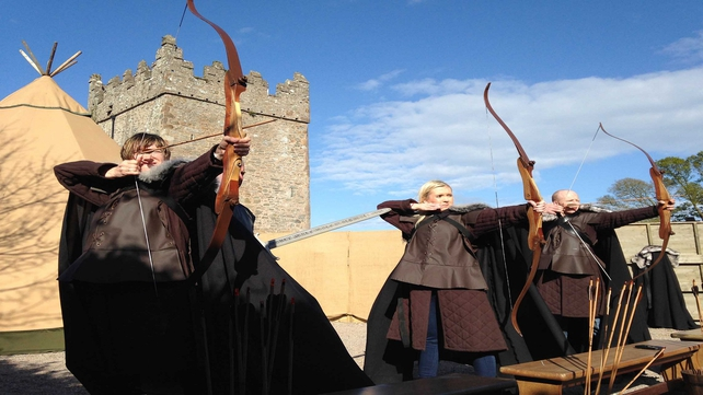 Put on cloak at the Winterfell Castle archery