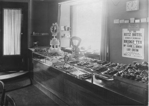 Delicatessen counter at the Embassy Tearoom 1935