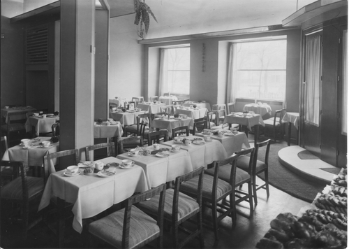 Restaurant area at the Embassy Tearoom 1935