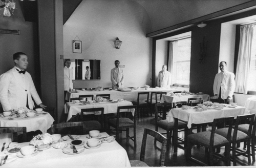 Restaurant area of the Embassy Tearoom 1935