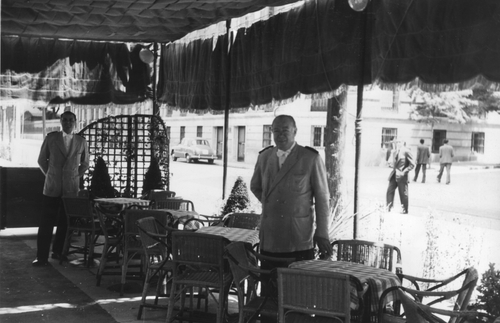 The Embassy Tearoom's terraza 1935