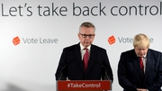 Michael Gove had been expected to back Boris Johnson (R)