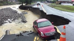 West Virginia was hit by up to 25cm inches of rain