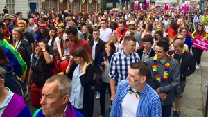 The annual Pride parade in Dublin will finish at Merrion Square