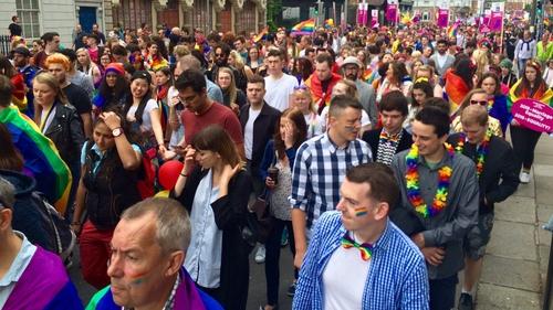 The annual Pride parade in Dublin will finish at Merrion Square