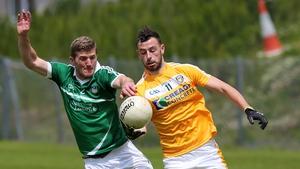 Antrim's Matthew Fitzpatrick and Limerick's Johnny McCarthy