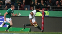 South Africa stand firm to deny Ireland