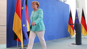 Angela Merkel's reasoned approach came despite a call from foreign ministers from the EU's six founding members for Britain to leave the bloc as soon as possible