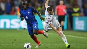 Kante in action for France during the recent Euro 2016 tournament