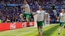 Robbie Brady celebrates giving Ireland the lead