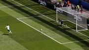 Robbie Brady dispatches his penalty past Hugo Lloris in the French goal